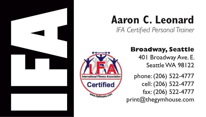 Ifa personal trainer business cards 7 a printer for gyms and home personal trainer business cards ifa colourmoves