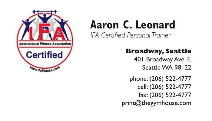 Ifa personal trainer business cards 12 a printer for gyms and home personal trainer business cards ifa colourmoves
