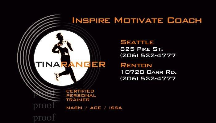 woman running fitness card