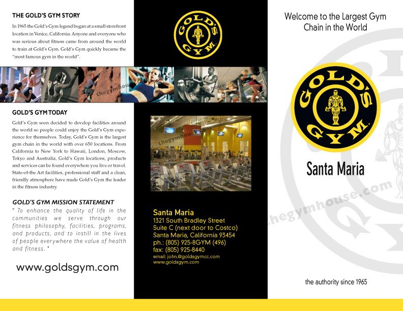Gym brochure row images a printer for gyms and personal for Gym brochure template
