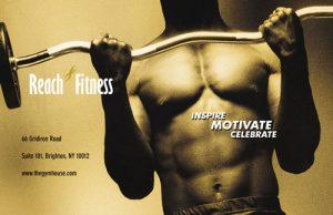 man flexing chest lifting