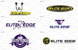 6 colored personal trainer logos
