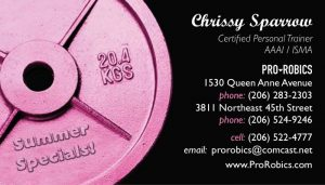 pink weight plate cards