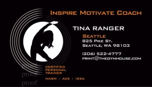 Stretching woman silhouette on a fitness card