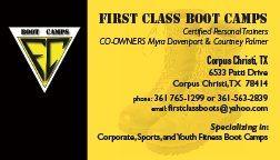 boots and logo on yellow and black card