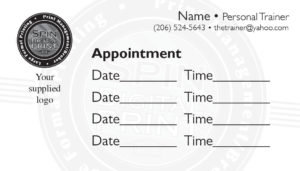 business card back appointment 17