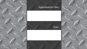 business card back appointment 20