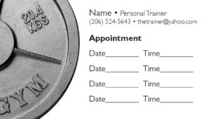 business card back appointment 21