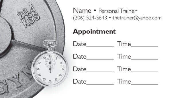 business card back appointment 23