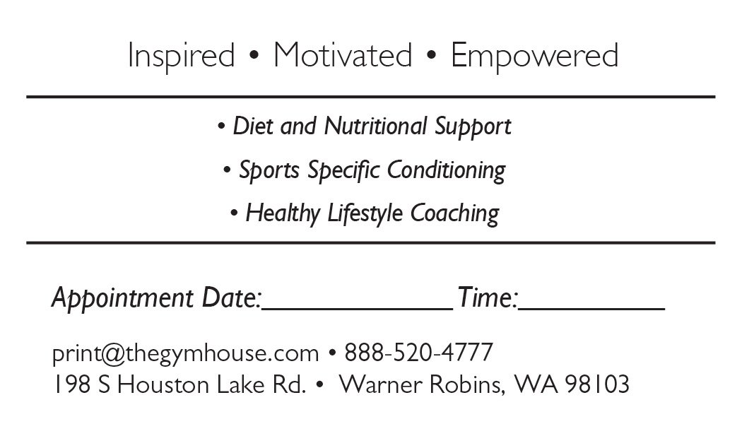 Back appointment card 35 a printer for gyms and personal trainers business card back appointment 25 colourmoves