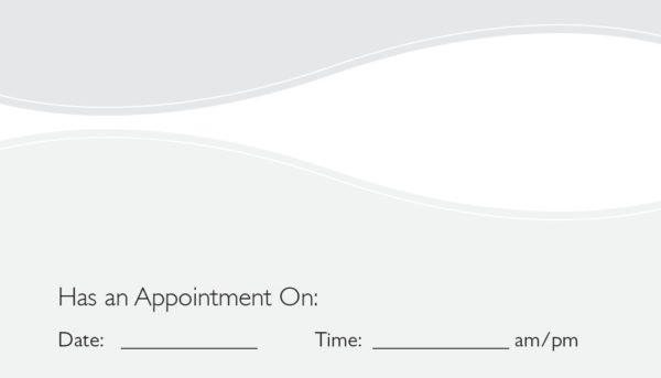 business card back appointment 30