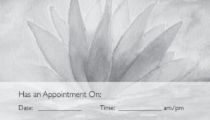 business card back appointment 31