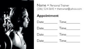 business card back appointment 33