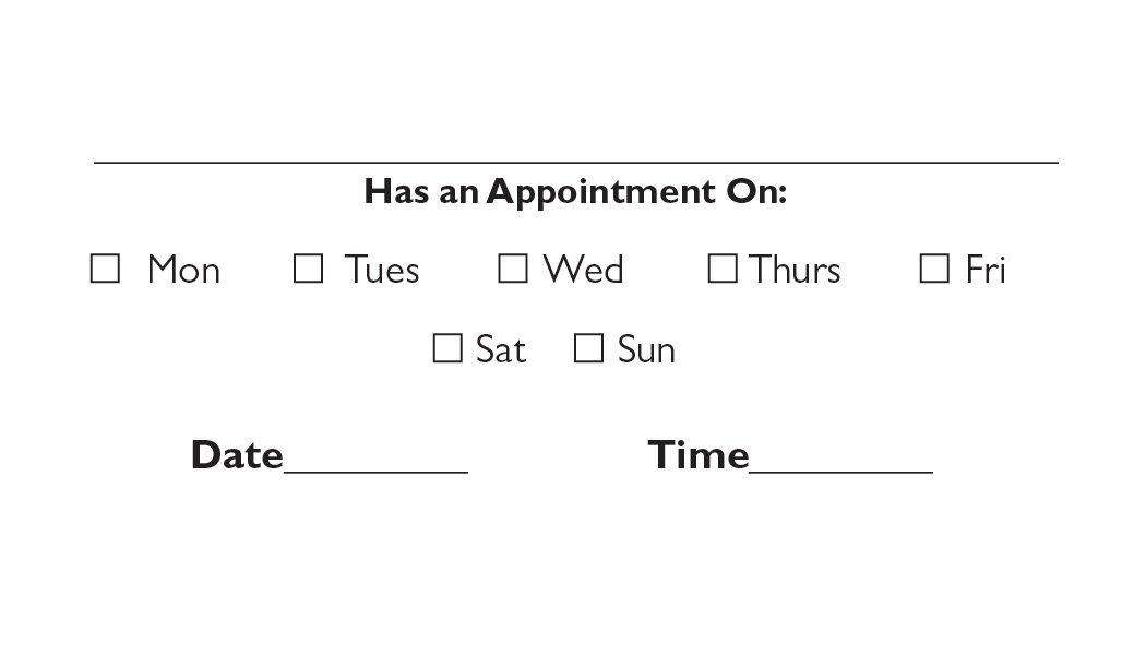 Back appointment card 14 a printer for gyms and personal trainers business card back appointment 4 colourmoves