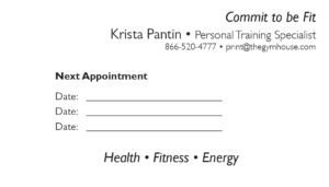 business card back appointment 7